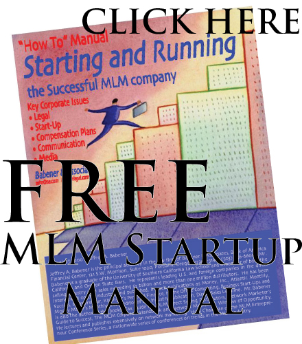 The Starting and Running the Successful MLM Company manual